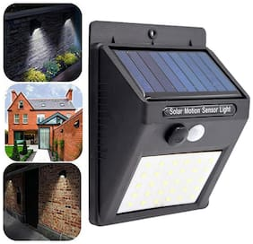 MSTC Solar LEDs Outdoor Waterproof Motion Sensor Solar Security Wall Light for Indoor;Garden;Driveway;Pathway etc- Solar Lights Lantern Emergency Light (Black)
