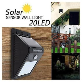 Diwali Outdoor 20 LED 4W Solar Motion Sensor Outdoor Wall Light - [Pack of 1]