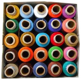 Muazzam Multi Color Threads 25 pcs Box Thread (300 M Pack of 25)