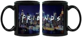 MUGSHUG Friends Mug in Black Color