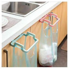 Mukta Enterprise Kitchen Cabinet Hanging Rubbish Bag Holder Garbage Storage Rack Cupboard Hanger pack of 2