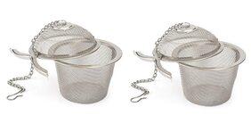 Mukta Enterpise Stainless Steel Tea Filter Infuser, 6.5cm, Silver pack of 2