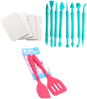 MUKTA ENTERPRISE Plastic Assorted Baking & icing tools ( Set of 6 )