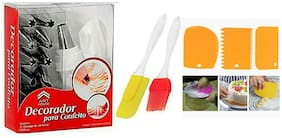 MUKTA ENTERPRISE Plastic Multi Baking & icing tools ( Set of 3 )