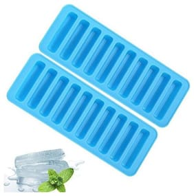 Mukta Enterprise Silicon Ice Tray - Ideal for Water Bottle Ice Cube, Juice Glass, Sipper Bottle pack of 2 ( Assorted)
