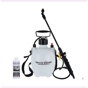 Mulch Wizard Colored Mulch Renewal Spray with Pump +  8 oz Brown