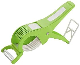 Multi Cutter With Peeler For Vegetable And Fruits;Green