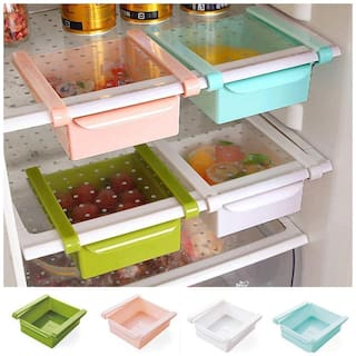 Multi Purpose Fridge Storage Racks, Shelf For Easily Maintaining Your Extra Meals Sold By Evershine Gifts And Household- 1pc