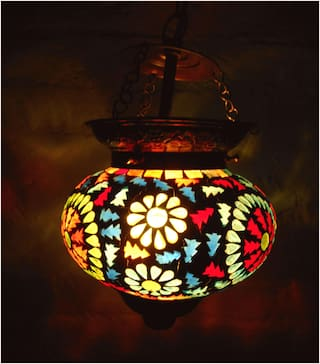 Multicolor Flower design Hanging Lamp Shade Decorative Glass Ceiling Lamp pendant