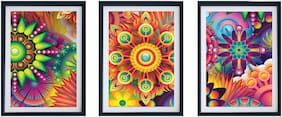 Multiple Wall Art Panel Set Of 3 With Frame