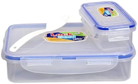 ab WARE Transparent 1 Containers Lunch box ( Set of 1 , 600 ml )
