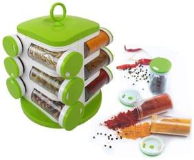 Multipurpose Revolving Spice Rack 12 Piece Condiment Set (MULTICOLOR) 1 Pc