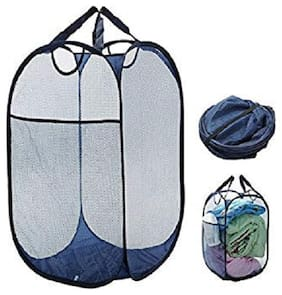 ARYSHAA Net Assorted Laundry Basket ( Set of 1 )
