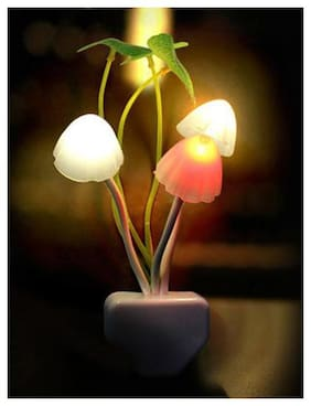 Mushroom Night Led Lamp with Power Saving Sensor & Color Changing Sensors For Home Decoration