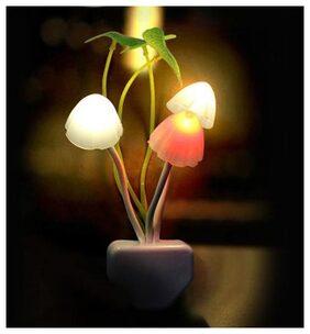 Mushroom Night Led Lamp with Power Saving Sensor & Color Changing Sensors For Home Decoration
