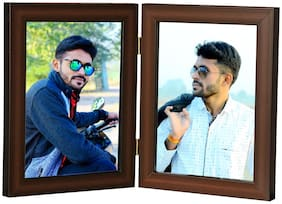 MY MAGIC GIFT COUPLE PHOTO FRAMES(4X6 inch) BROWN