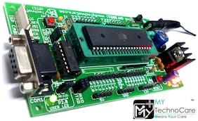 MY TechnoCare ATMEL 8051 Development Board ZIF Socket + MAX232 AT89S52 Microcontroller IC Project Evaluation Kit Support AT89S51/XX,89Cxx,89V51RD2 Architecture 40 Pin Chip Prototype PCB FREE SHIPPING