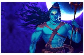 MYIMAGE Lord Shiva Animated Poster (Paper Print, 31cm x 46 cm) (Vinyl Paper Poster, Size 18x24 inch)