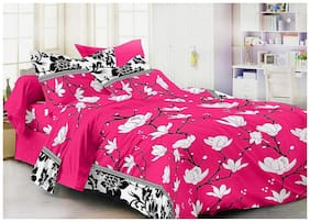 N G PRODUCTS Cotton Floral Double Size Bedsheet 120 TC ( 1 Bedsheet With 2 Pillow Covers , Multi )
