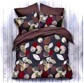 N G PRODUCTS Cotton Floral Double Size Bedsheet 180 TC ( 1 Bedsheet With 2 Pillow Covers , Assorted )