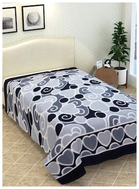 N G PRODUCTS Supersoft Fleece Double Bed AC Blanket, Bedsheet - Size 90 X 90 inch, 1200 g (Multicolor)