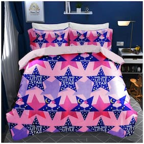 N G PRODUCTS Cotton Printed Double Size Bedsheet 180 TC ( 1 Bedsheet With 2 Pillow Covers , Peach )