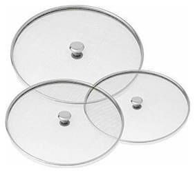 Naeva Stainless Steel Milk Net Cover Food Cover Net (Multi Purpose Strainer) Set Of 3 Piece 5-6-7