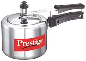 Prestige Nakshatra Aluminium Pressure Cooker, 2 Litres, Silver