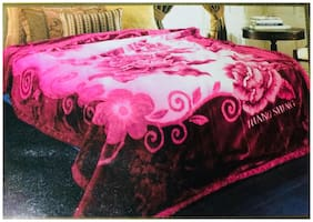 Nanki's Premium Double Bed Reversible Mink Blanket
