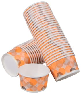 Nastee Paper ICE Cream Bowl Cups - 50 ML -for Wedding Events and Party USE-300 Pieces Multi Color