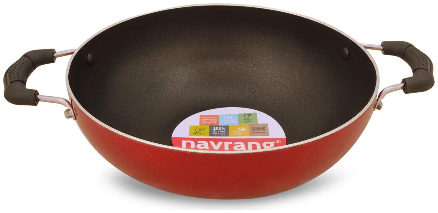 Navrang 1.75 L Without Lid Kadhai   Aluminium , Set of 1   by AZ Sellers