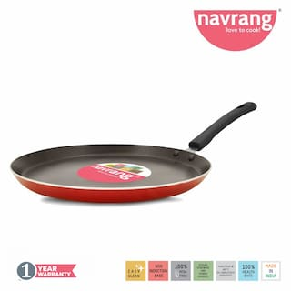Navrang Non Stick Aluminium Dosa Tawa 275mm;Red