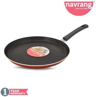 Navrang Non Stick Aluminium Dosa Tawa Induction Friendly 275mm;Red