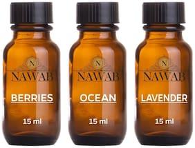 NAWAB essential aroma Diffuser oil(Berries,Ocean,Lavender-15ml each)