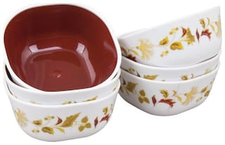 Nayasa Brown Square Deluxe Bowl   (Set of 6)