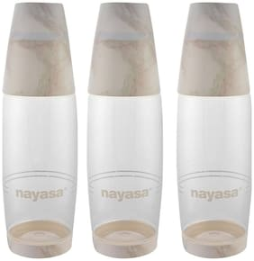 NAYASA 1000 ml Plastic Assorted Water Bottles - Set of 1