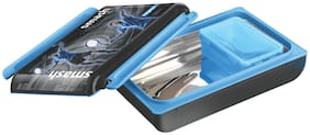 Nayasa Notebook Insulated Plastic Lunch Box with Stainless Steel Inner Container