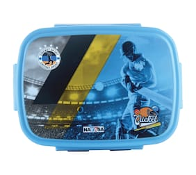 Nayasa Nutri Kids Deluxe Insulated Plastic Lunch Box with Stainless Steel Inner Box