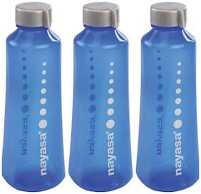 NAYASA 1000 ml Plastic Assorted Fridge Bottles - Set of 3
