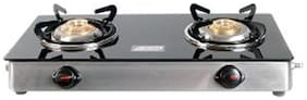 Ndura 2 Burners Stainless Steel With Glass Top Gas Stove - Black