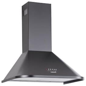 Cata 60 cm 1200 m3/h Push button control Stainless steel Chimney - 280 watts , Black , NEBLIA 60 BLK