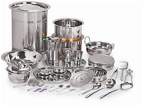 Neelam Stainless Steel Premium 101 pcs Wedding Dinner Set 22 Gauge
