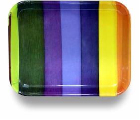 Neoware Melamine Serving/Snack Tray Stripes theme set of 2
