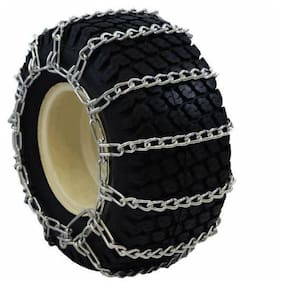 New  2-Link 23x10.50-12 Tire Chains Lawn Garden Tractor Snow Blower