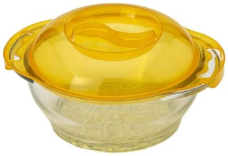Somil 350 ml Transparent Glass Container Set - Set of 4