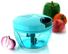 New Handy Chopper, Vegetable Cutter and Chilly Cutter Chopper, 3 Stainless Steel Blade System (650 ml, 1 Piece)