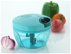 New Handy Chopper, Vegetable Cutter and Chilly Cutter Chopper, 3 Stainless Steel Blade System (650 ml, 1 Piece, Multicolor)