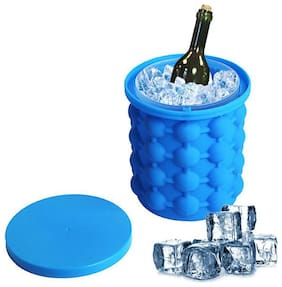 New Ice Cube Magic Ice Maker Silicone Ice Cube Maker Genie Mold Trays Silicone, Space Saving Ice Cube Maker