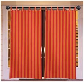 NewLadiesZone Cotton  red  stripe Door Curtain Set of 2