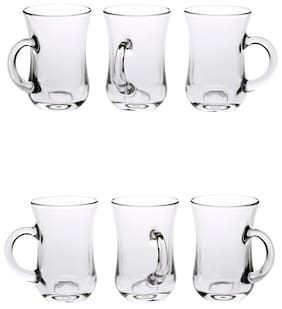 New Look Somil Glass Multipurpose Beer Mug With Handle Set Of 6